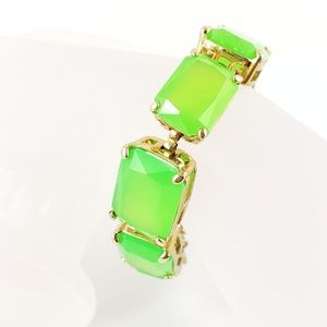 J. Crew Statement Bracelet Lime Green Pop Color